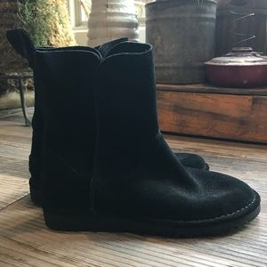 UGG 1017533 Women's Black Suede Boots Unlined 6